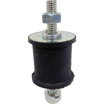 Round Rubber Vibration Isolators, Double-Sided Bolt,