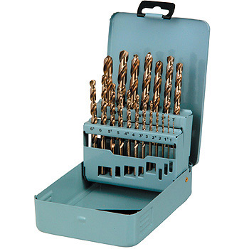 Cobalt straight drill set