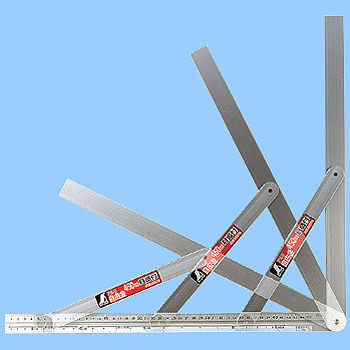 Aluminum Free Metal Brace, With A Scale 45 Cm
