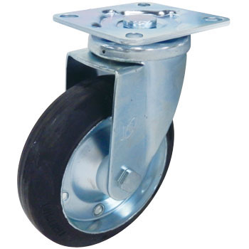 Stc Swivel Caster, Rubber Wheel