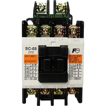 Direct-Current Operation Type Electromagnetic Contactor, With No Case Cover