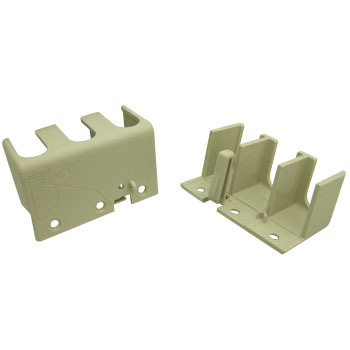 Large terminal cover for earth leakage / no fuse circuit breaker