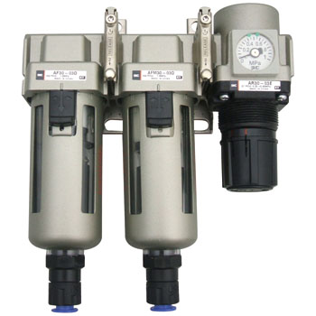 Air Filter+Mist Separator+Regulator With A Square-Shaped Embedded Type Pressure Gauge