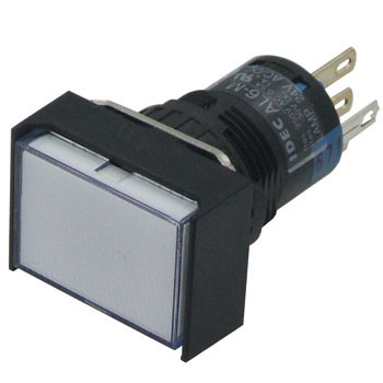 Phi 16 A6 series illuminated pushbutton switch (rectangle)