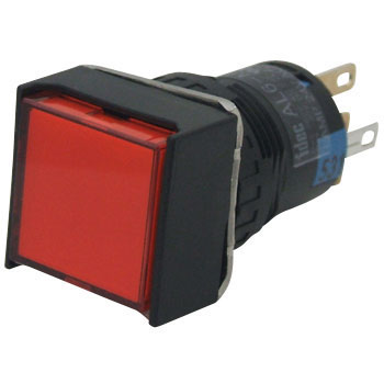 phi 16 A6 Series Illuminated Pushbutton Switch, Plus Square