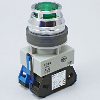 Phi 25 TWS Series Lighting Push Button Switch, Full Guard, LED