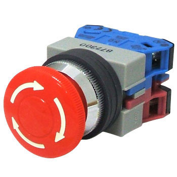 phi 25 Tws Series Push Button Switch, Push Lock Turn Reset Type