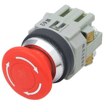 phi Avn 30 Series Push Button Switch, Large Push Lockturn Reset