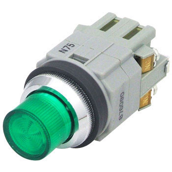 phi 30 Series illuminated pushbutton switch (protruding LED) BA 9 S