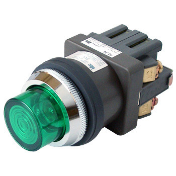 phi 30 Series Illuminated Pushbutton Switch, Cuspidated Shape Incandesce) Ba9S