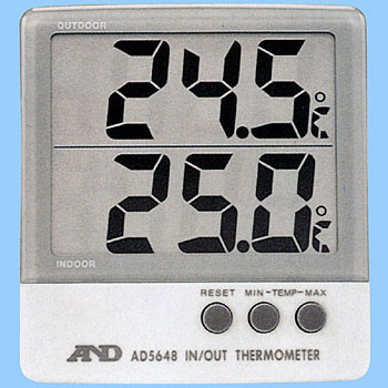 Large-Size  Lcd Inside And Outside Thermometer