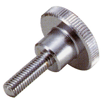 Knurled Knob M4, Steel, Male Screw