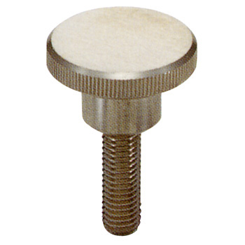 Knurled Knob, Stainless Steel, Male Thread ) M4