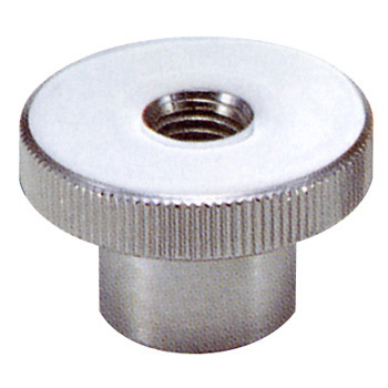 Knurled Knob, Steel, Female Thread, M6