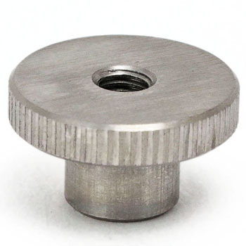 Knurl Knob, Made Of Stainless Steel, Female Thread
