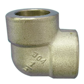 Stainless steel high pressure 90 degree insertion plug type elbow