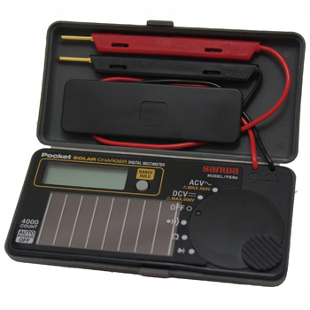 Solar Rechargeable Multimeter