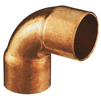 Copper Pipe Elbow 90 deg