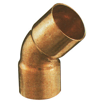 Copper Pipe Elbow 45 deg