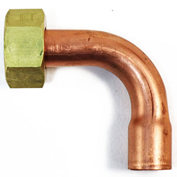 Copper Pipe Elbow Adapter