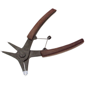 Pliers, straight type, with spring, external & int