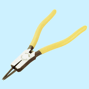Pliers, straight type, with spring, external use