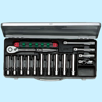 "1/2""sq. DEEP SOCKET WRENCH SET(15pcs.)"