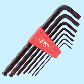 Ball Point L Form Long Hexagonal-Bars Wrench Set