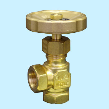 Threaded needle valve