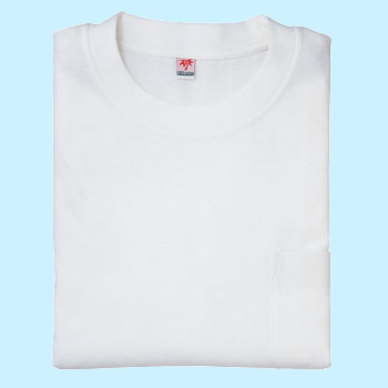 long-sleeved pocketed T-shirt