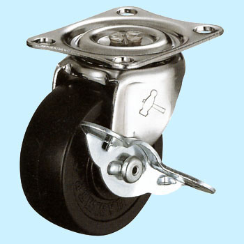 415G, With Swivel Caster Stopper, Rubber Wheel