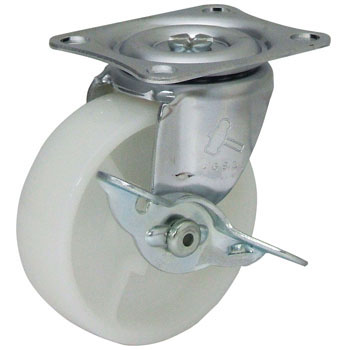 415G Swivel Caster, Nylon Integral Wheel, with Brake