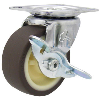 415G Swivel Caster, Nylon Wheel Urethane Roll Wheel, With A Stopper
