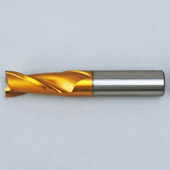 2 Flute Short End Mills(Tin-Coated)