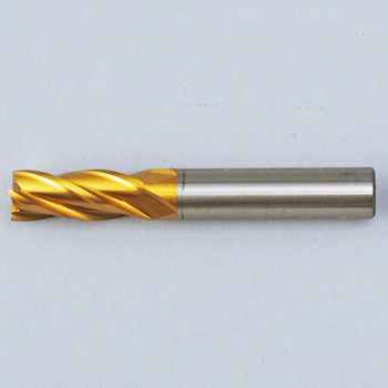 4 Flute Short End Mills(Tin-Coated)