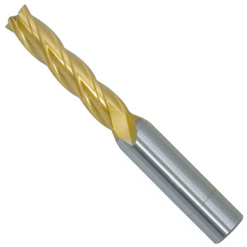4 Flute Long End Mills(Tin-Coated)