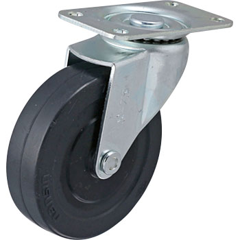 TEL Swivel Caster, Rubber Wheel