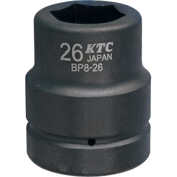 25.4sq. Socket for impact wrenches (standard) With a pin ring