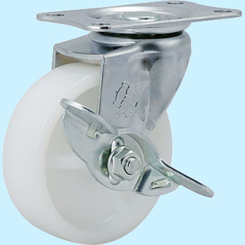 415E Swivel Caster, Nylon One Wheel, W/Blade Latch