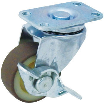 415E Swivel Caster, Nylon Wheel Urethane Wrapped Wheel, W/Blade Latch
