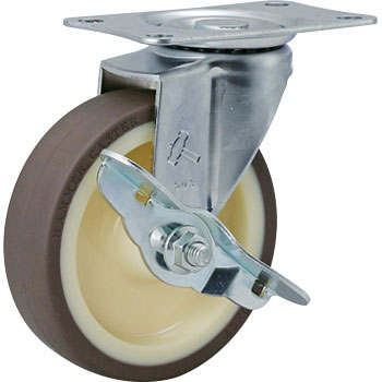 415E Swivel Caster, Urethane Wheel RB, Stopper