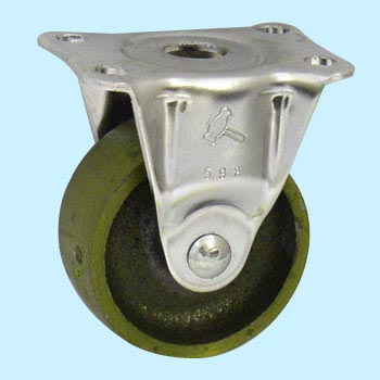 420R Rigid Caster, Cast Metal Wheel