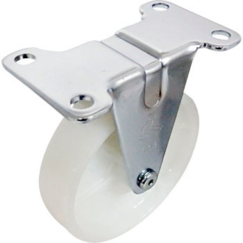 440R Rigid Caster, Nylon Wheel