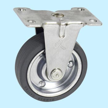 420ER Rigid Caster, Sheet Iron Wheel, Rubber Wheel