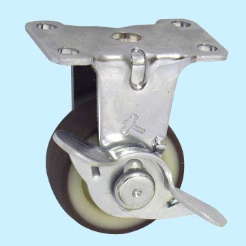 Rigid Caster with Brake