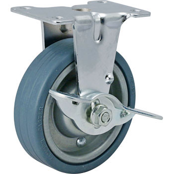 Rigid Caster, Rubber-Wheel