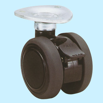 Twin Tire Caster- Te, Plate InstallationWith Stopper