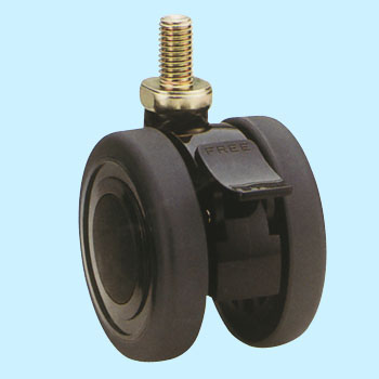 Twin Wheel Axle-Pin-Rake Te Screw Type With A Blade Latch