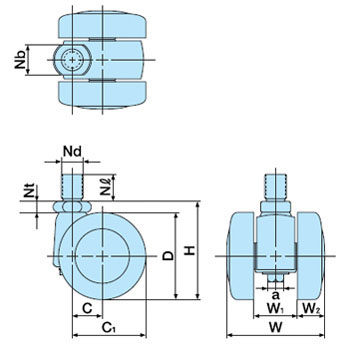 Double Wheel Caster