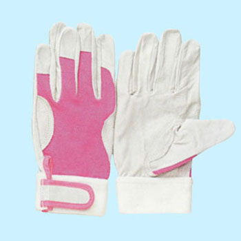 Pig Leather Gloves, Color Magic